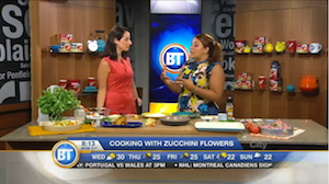 Cooking zucchini flowers with Chef V