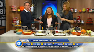 Thanksgiving décor with Chef V